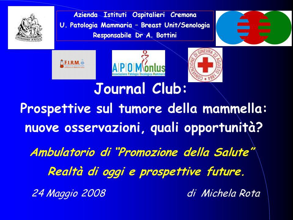 Journal Club: Prospettive sul tumore della mammella: