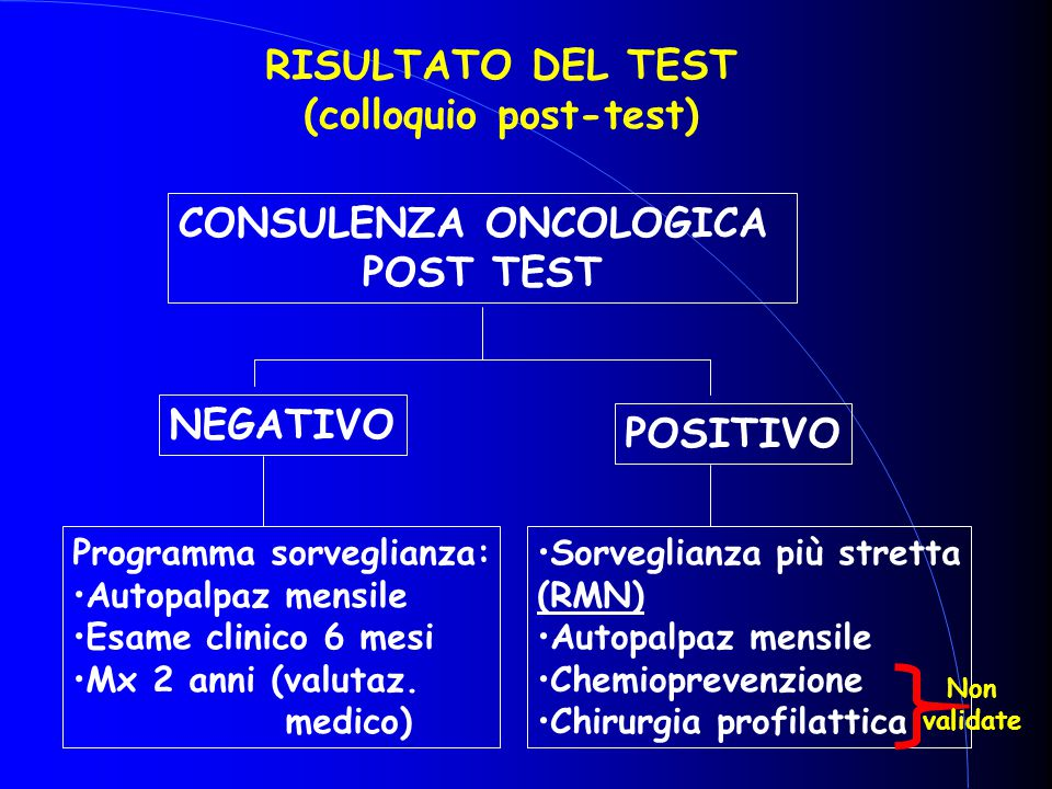 (colloquio post-test)‏ CONSULENZA ONCOLOGICA