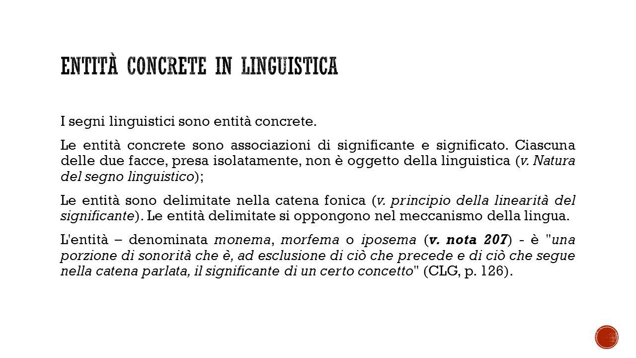 Entità concrete in linguistica