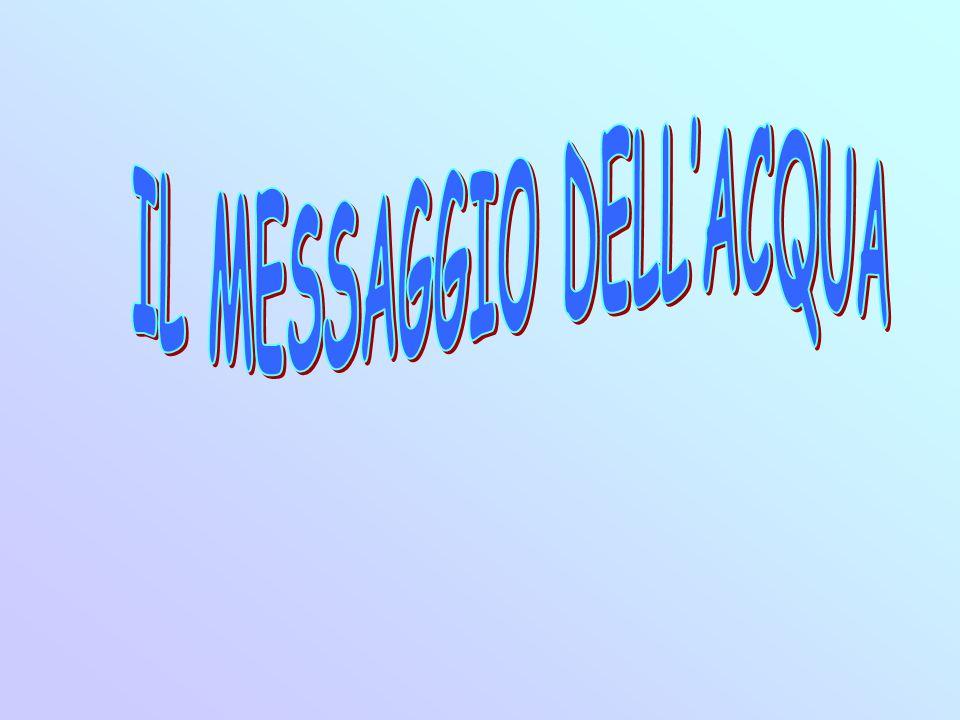 IL MESSAGGIO DELL'ACQUA