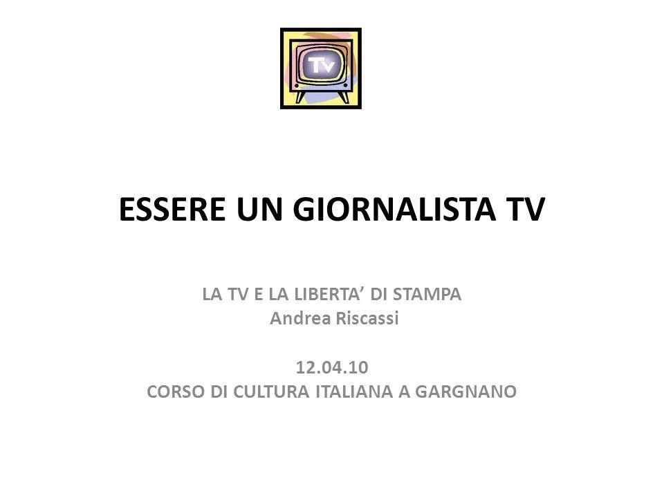 ESSERE UN GIORNALISTA TV