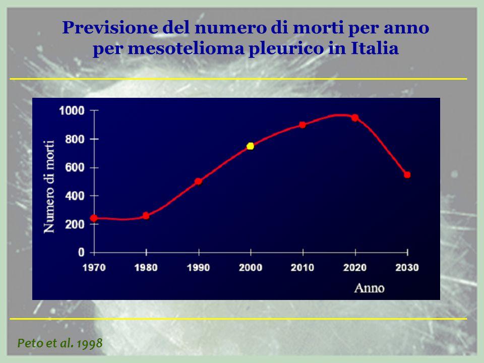 Previsione del numero di morti per anno