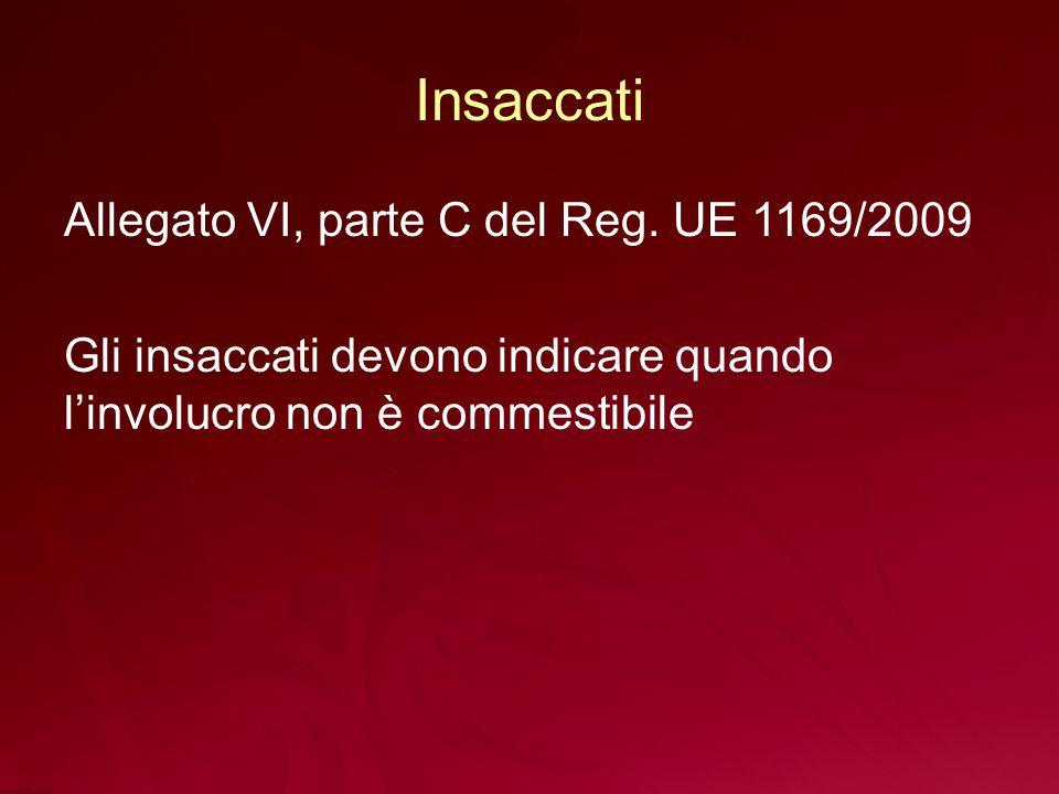 Insaccati Allegato VI, parte C del Reg.