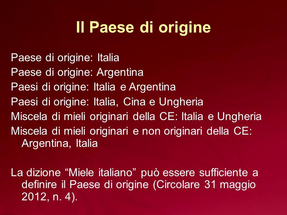 Il Paese di origine Paese di origine: Italia