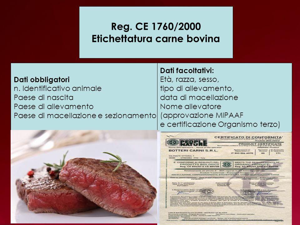 Etichettatura carne bovina