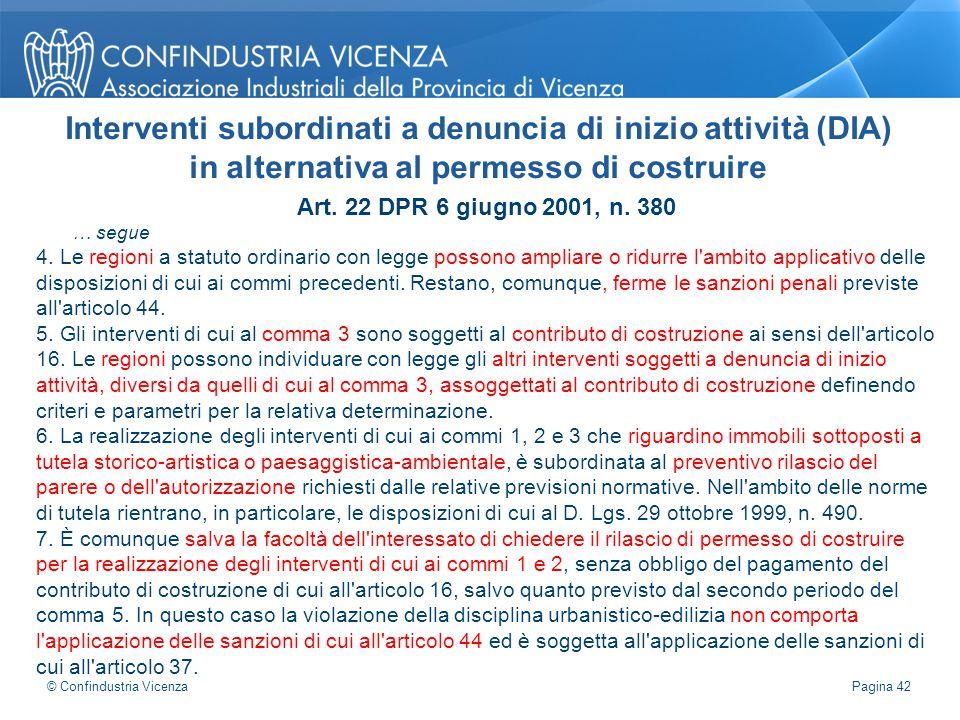 Interventi subordinati a denuncia di inizio attività (DIA)