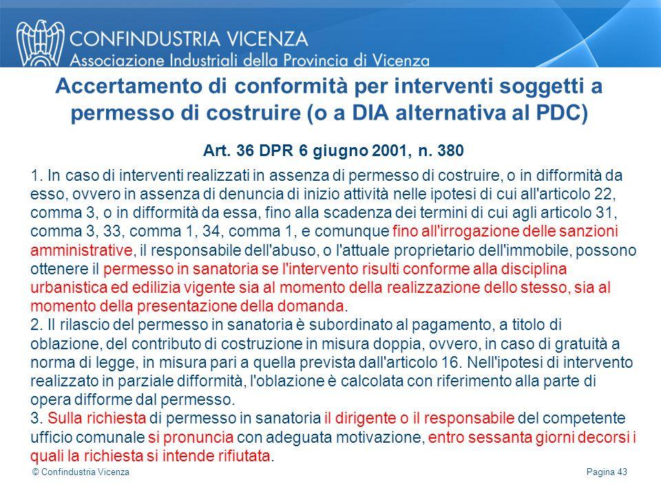 Accertamento di conformità per interventi soggetti a permesso di costruire (o a DIA alternativa al PDC)