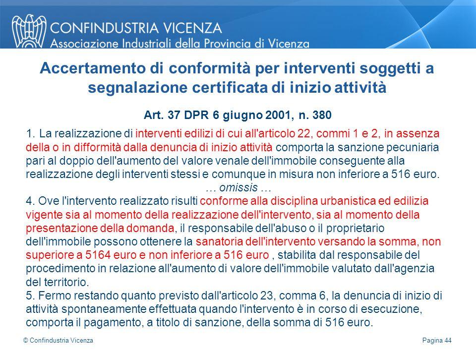 Accertamento di conformità per interventi soggetti a segnalazione certificata di inizio attività