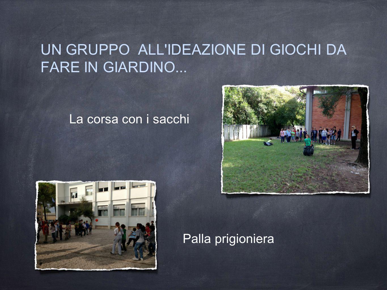 UN GRUPPO ALL IDEAZIONE DI GIOCHI DA FARE IN GIARDINO...