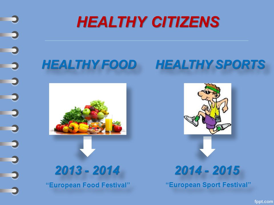 HEALTHY CITIZENS HEALTHY FOOD HEALTHY SPORTS 2013 - 2014 2014 - 2015