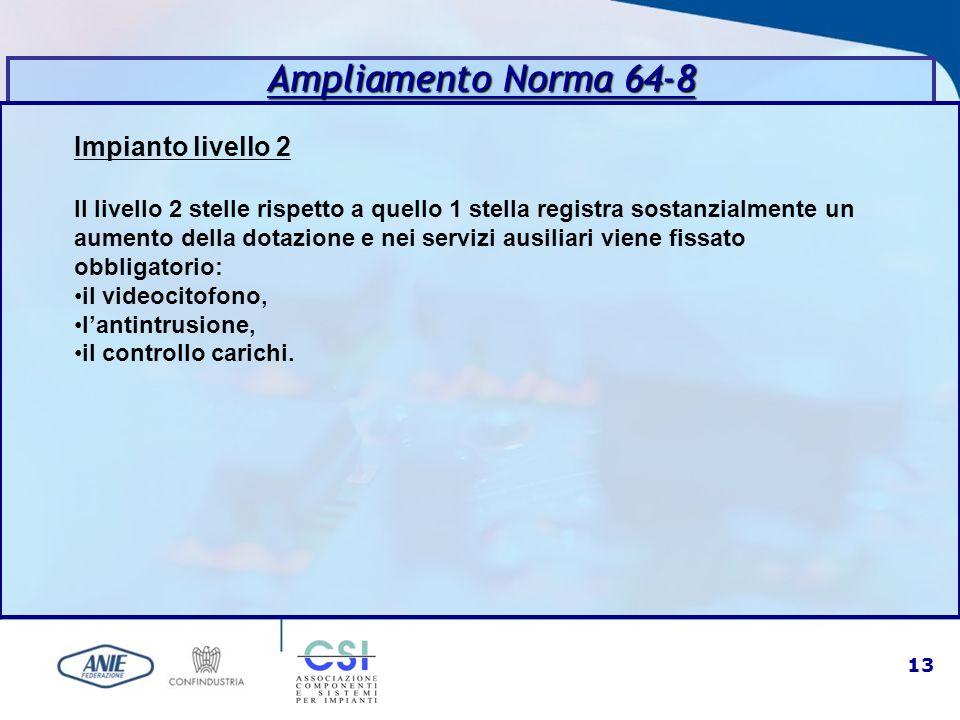 Ampliamento Norma 64-8 Impianto livello 2