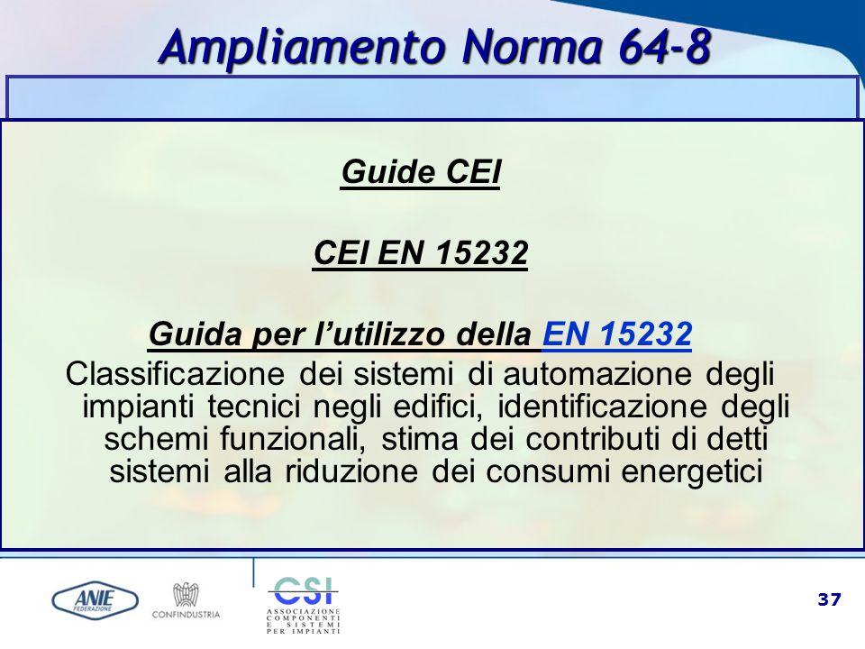 Guida per l'utilizzo della EN 15232