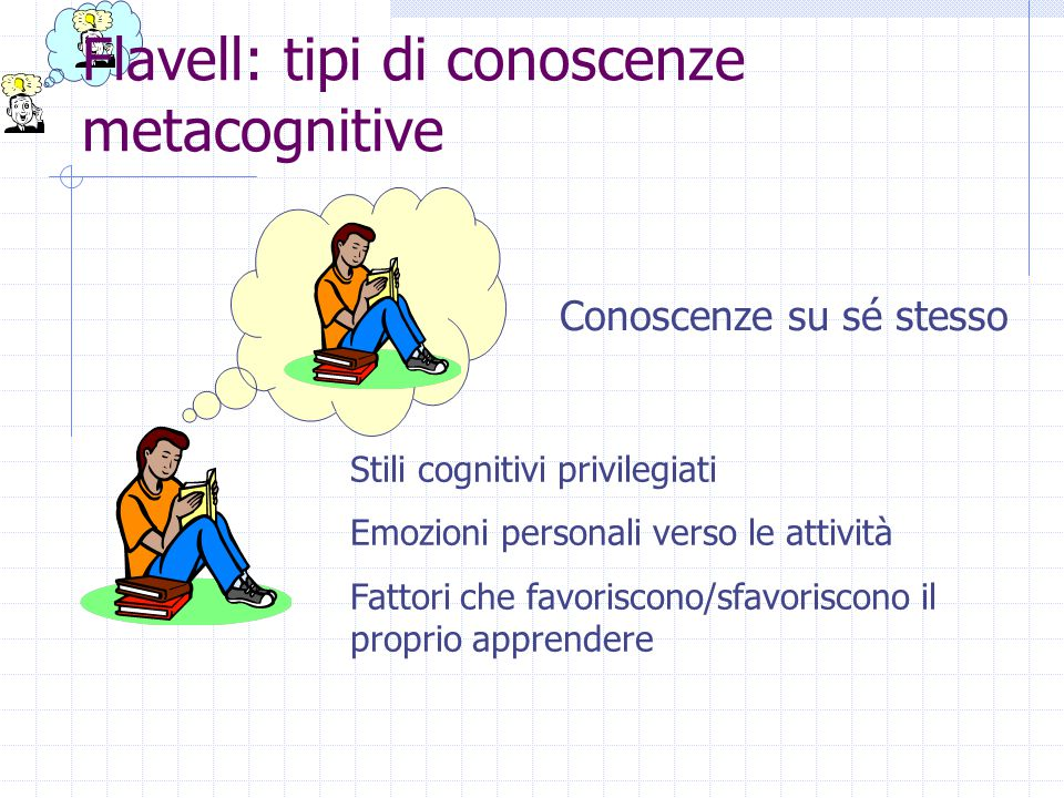 Flavell: tipi di conoscenze metacognitive
