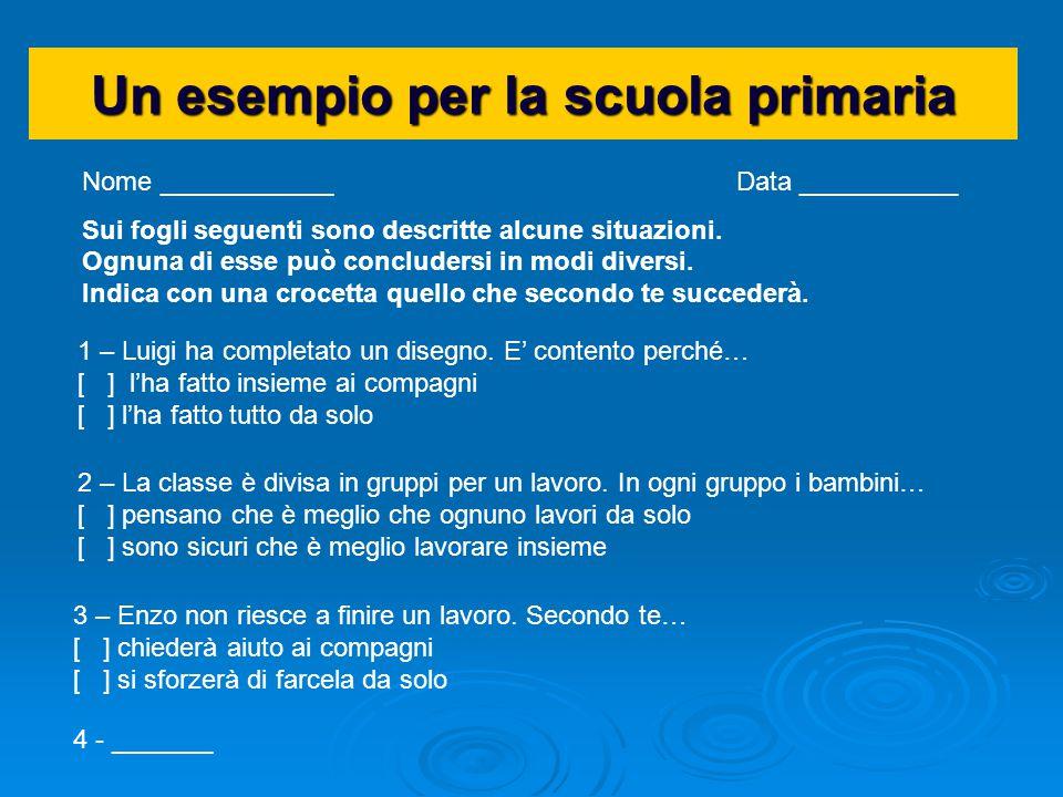 Un esempio per la scuola primaria