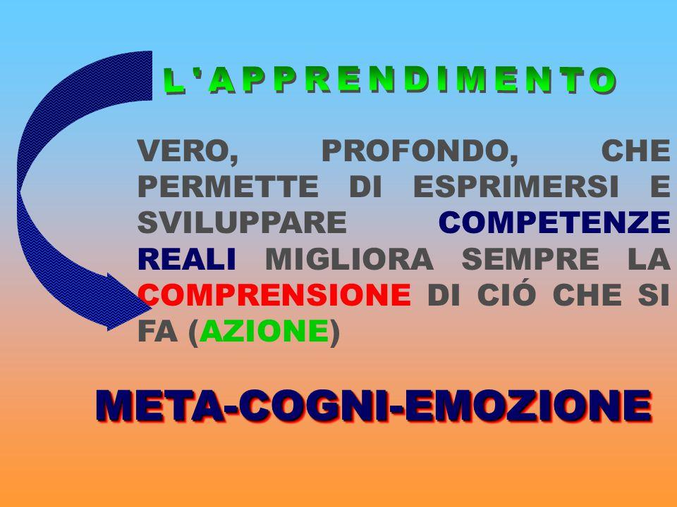 META-COGNI-EMOZIONE L APPRENDIMENTO