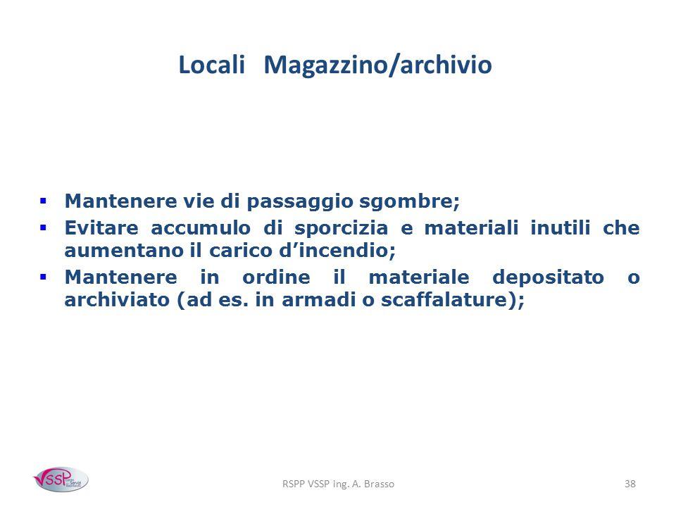 Locali Magazzino/archivio
