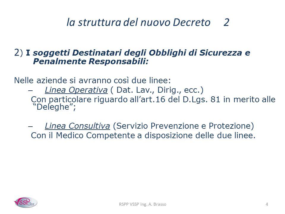 la struttura del nuovo Decreto 2