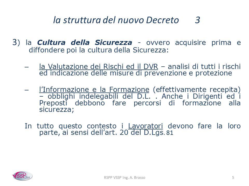 la struttura del nuovo Decreto 3