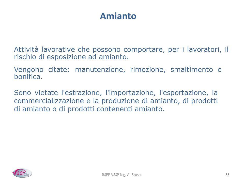 Amianto Attività lavorative che possono comportare, per i lavoratori, il rischio di esposizione ad amianto.