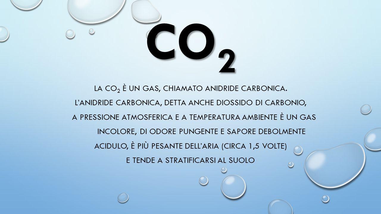 CO2 LA CO2 è un gas, chiamato Anidride Carbonica.
