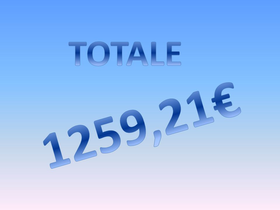 TOTALE 1259,21€