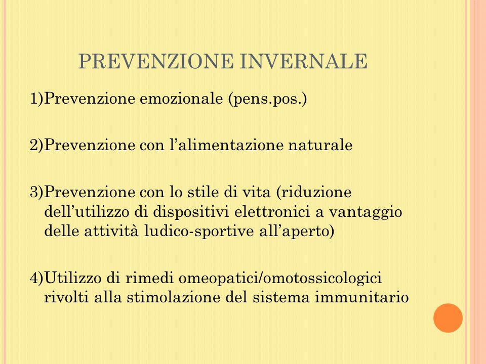 PREVENZIONE INVERNALE