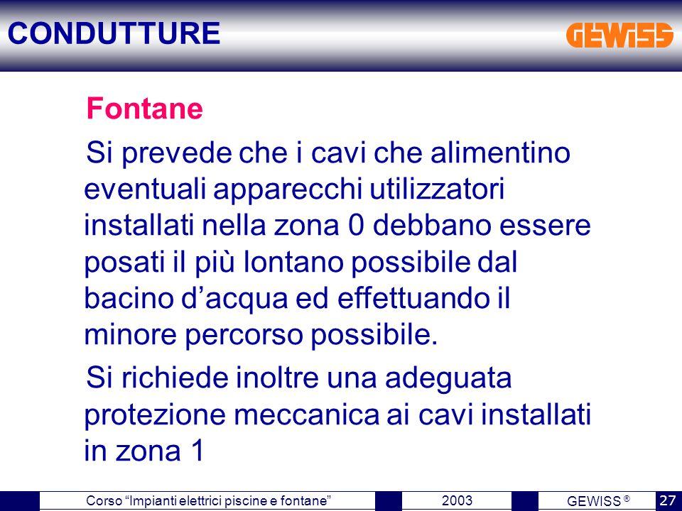 CONDUTTURE Fontane.