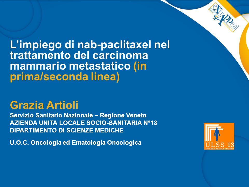 L'impiego di nab-paclitaxel nel trattamento del carcinoma mammario metastatico (in prima/seconda linea)