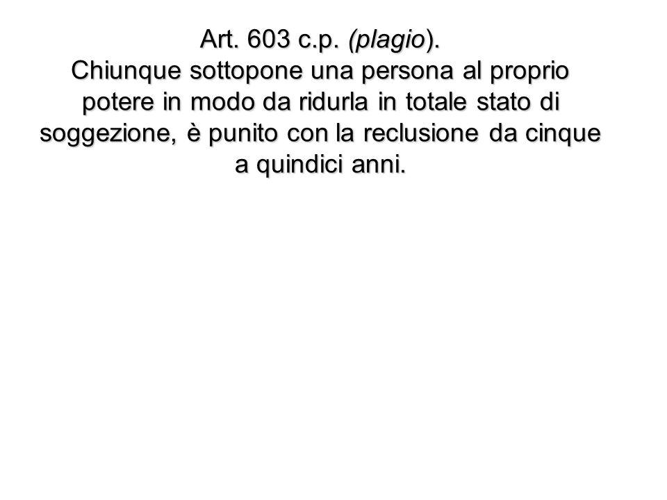 Art. 603 c.p. (plagio).