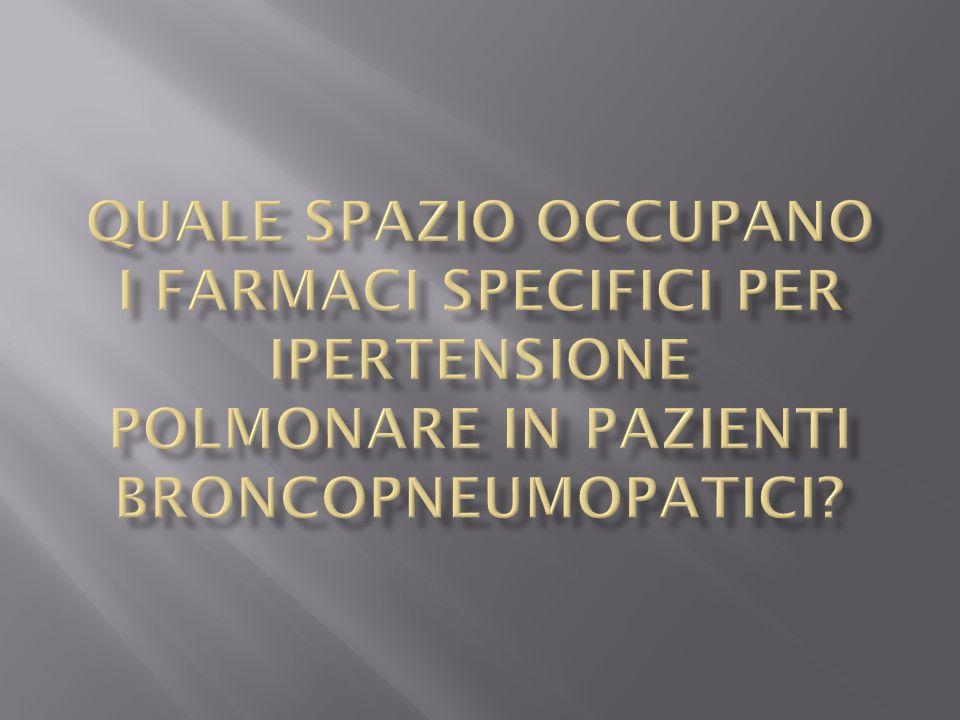Quale spazio occupano i farmaci specifici per ipertensione polmonare in pazienti broncopneumopatici