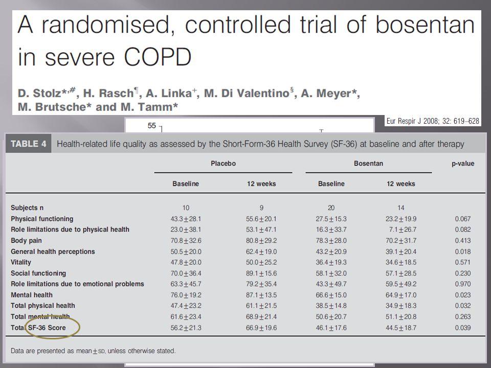 30 pazienti con BPCO di grado severo o molto severo di cui 20 pazienti con ipertensione polmonare stimata ecograficamente