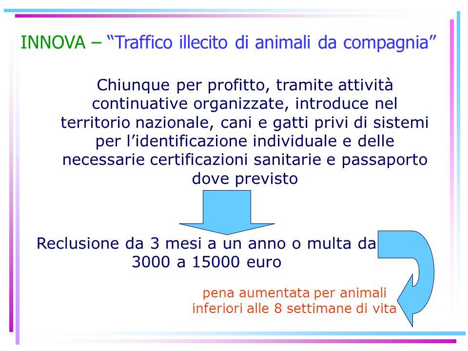 INNOVA – Traffico illecito di animali da compagnia