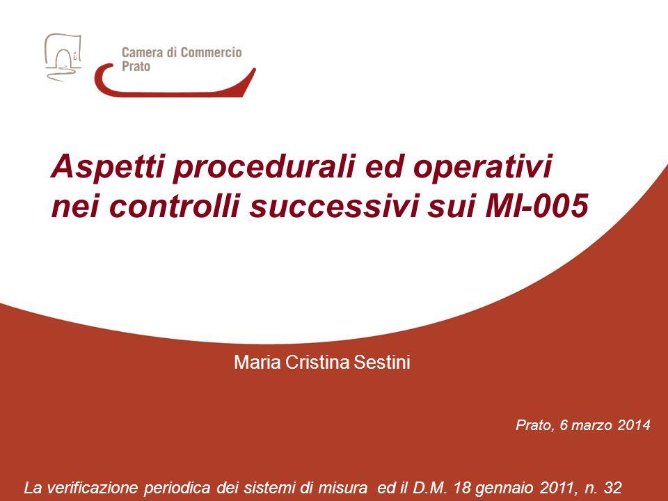 Aspetti procedurali ed operativi nei controlli successivi sui MI-005