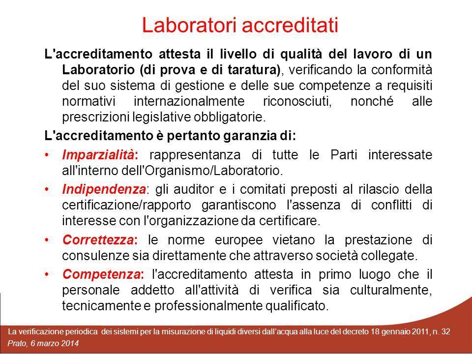 Laboratori accreditati