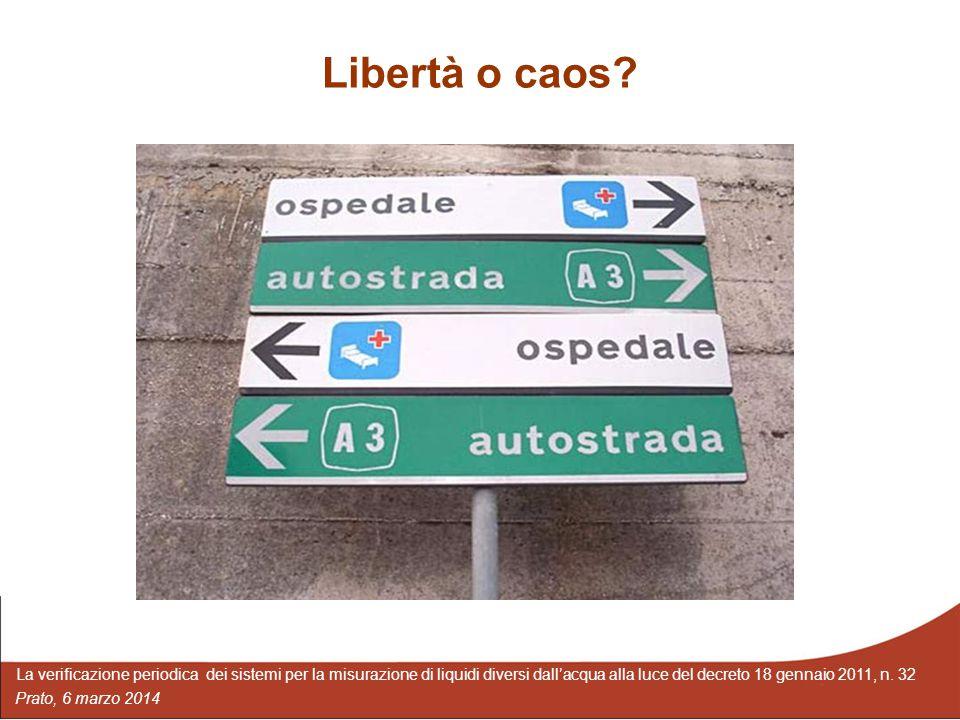 Libertà o caos