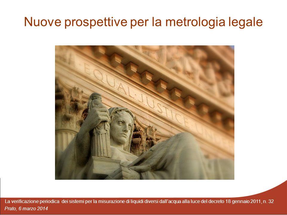 Nuove prospettive per la metrologia legale