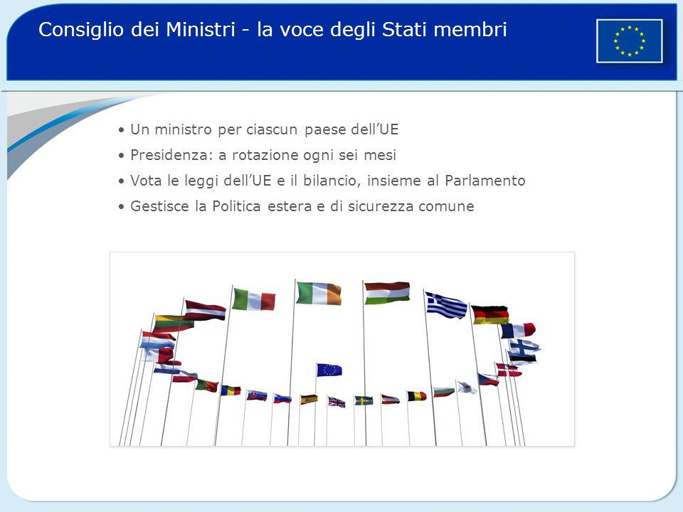 Consiglio dei Ministri - la voce degli Stati membri