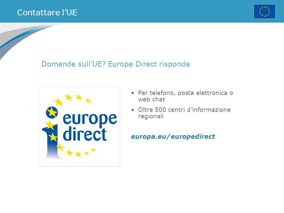 Contattare l'UE Domande sull'UE Europe Direct risponde