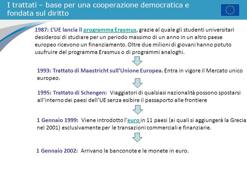 I trattati – base per una cooperazione democratica e fondata sul diritto