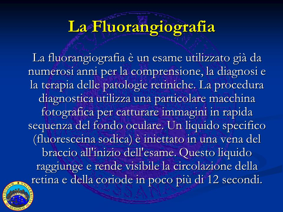 Indicazioni alla fluorangiografia