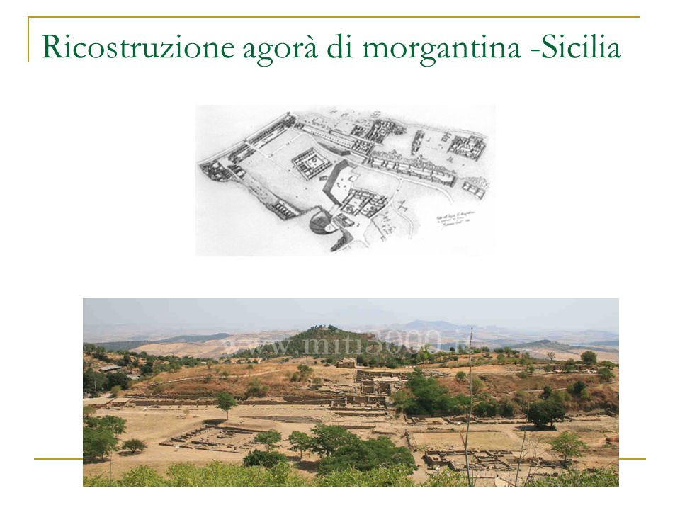 Ricostruzione agorà di morgantina -Sicilia