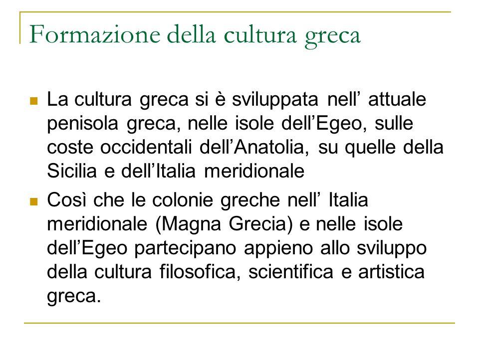 Formazione della cultura greca