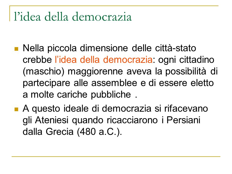 l'idea della democrazia
