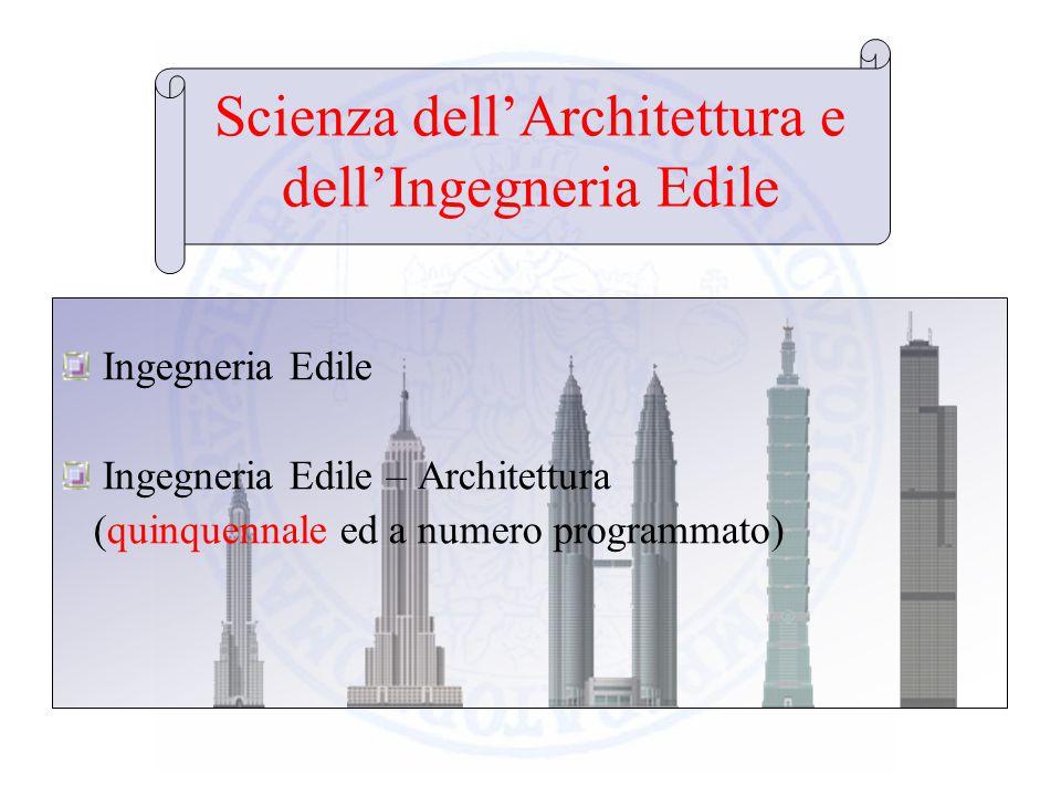 Scienza dell'Architettura e dell'Ingegneria Edile
