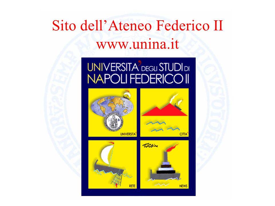 Sito dell'Ateneo Federico II www.unina.it