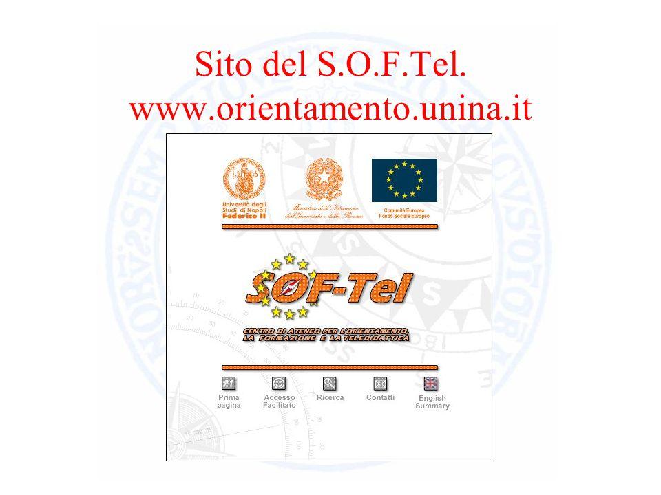 Sito del S.O.F.Tel. www.orientamento.unina.it