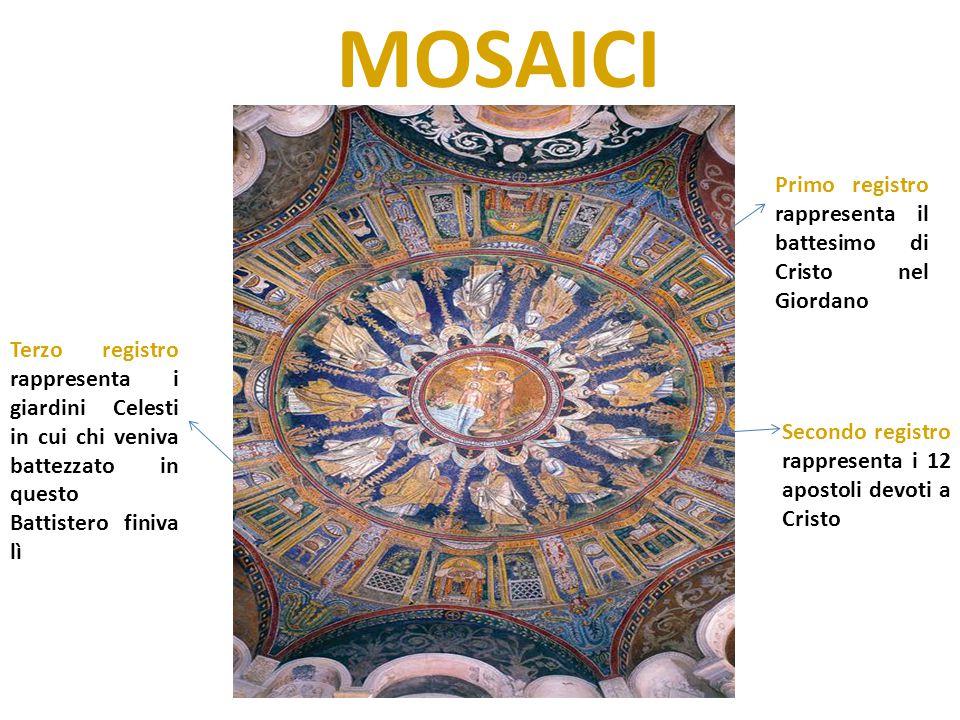 MOSAICI Primo registro rappresenta il battesimo di Cristo nel Giordano