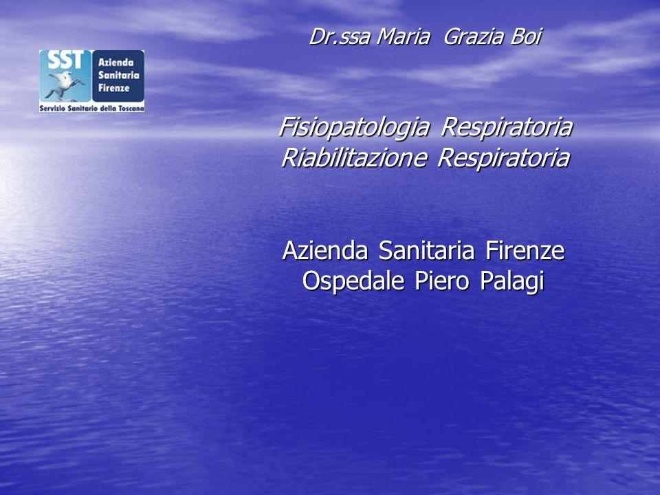 Fisiopatologia Respiratoria Riabilitazione Respiratoria