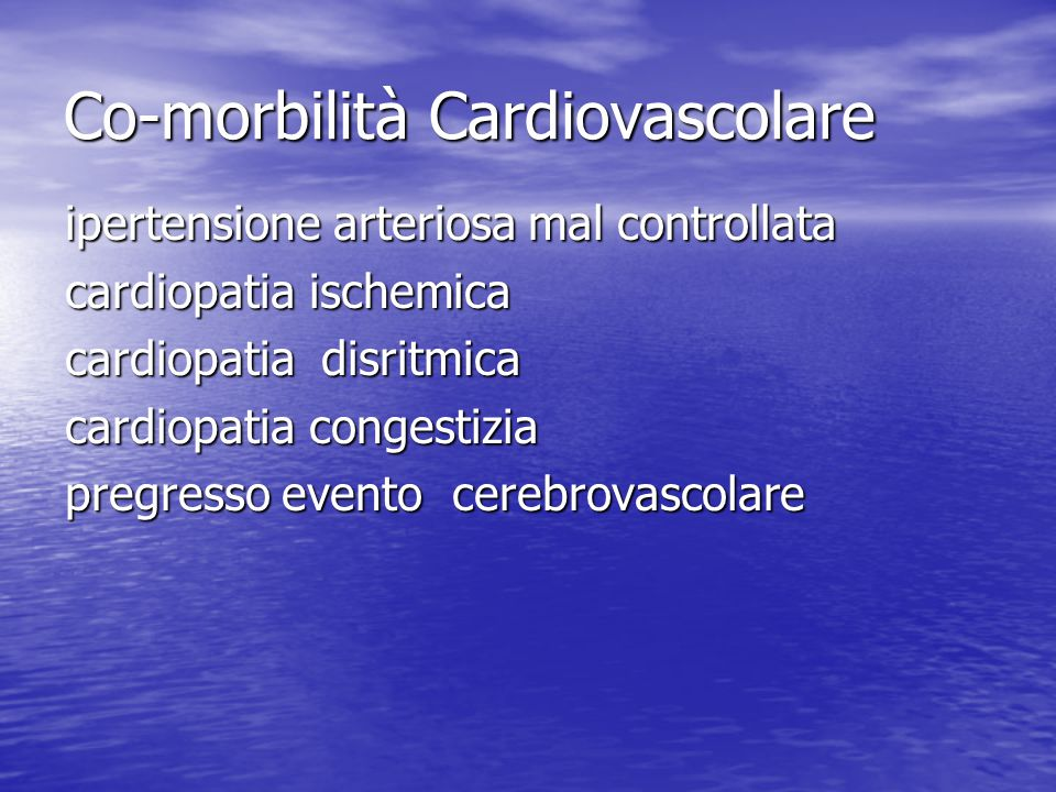 Co-morbilità Cardiovascolare