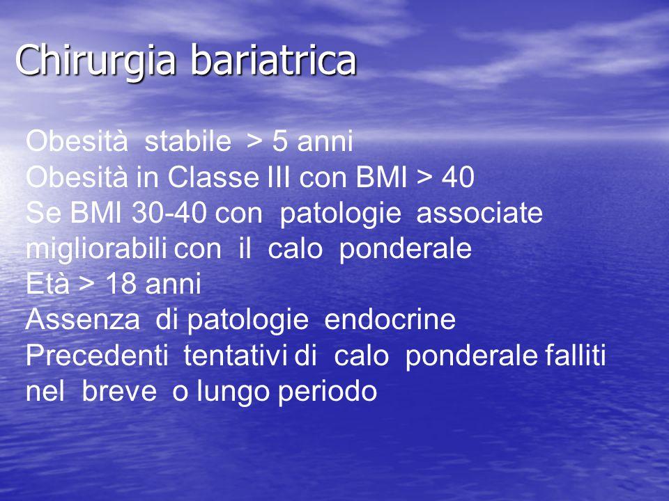 Chirurgia bariatrica Obesità stabile > 5 anni